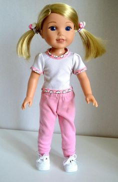 """DK BLUE T-Strap Doll Shoes For 14/"""" American Girl Wellie Wisher Wishers Debs"""