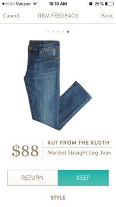 Stitch Fix Kut from the Kloth straight leg jeans #stitchfix