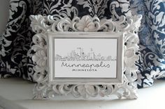 Minneapolis Skyline Print  Home Decor and Wall by KrilynCraftology