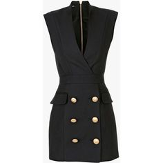 Balmain Silk-blend tuxedo mini-dress and other apparel, accessories and trends. Browse and shop 2 related looks.