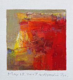 May 18 2017  Original Abstract Oil Painting  9x9 painting