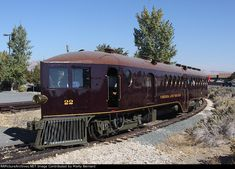 Very unusual and distinctive Virginia and Truckee short line self propelled passenger car and engine combination train....