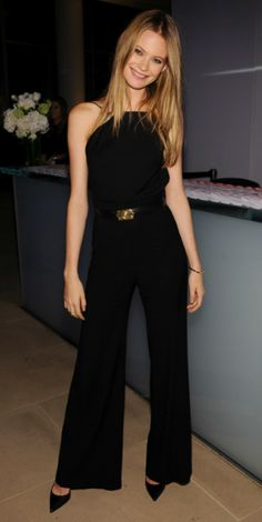 model Behati Prinsloo- so chic in all black love a halter