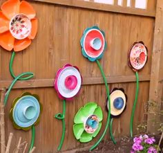 Decorative flowers made from dollar store bowls