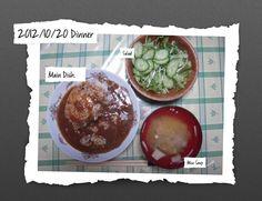 For Dinner on 20/Oct/2012