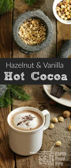 A perfectly nutty and comforting drink to enjoy on a cold day, homemade hazelnut hot cocoa is easy to make and enjoyed by the whole family. Great after a day outside skating or sitting around a campfire! Drinks Alcohol Recipes, Non Alcoholic Drinks, Tea Recipes, Coffee Recipes, Fun Drinks, Yummy Drinks, Cocktail Recipes, Smoothie Recipes, Whole Food Recipes