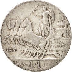 Italy, Vittorio Emanuele III, Lira, 1913, Rome, F(12-15), Silver, KM:45