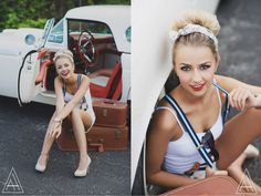 retro senior photoshoot idea- amanda holloway photography