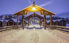 The Gate of Happiness by rchris  winter night photography Norge Norway Trondheim…