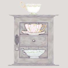 cups & a cupboard