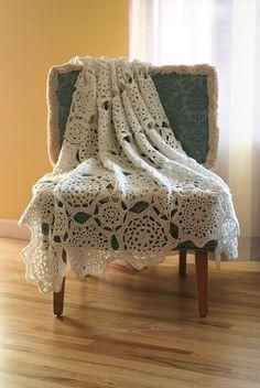 Tucson Throw, crocheted by Yarn Theory.  *Free* pattern from Naturally Caron  . . . .   ღTrish W ~ http://www.pinterest.com/trishw/  . . . .    #crochet #afghan #throw