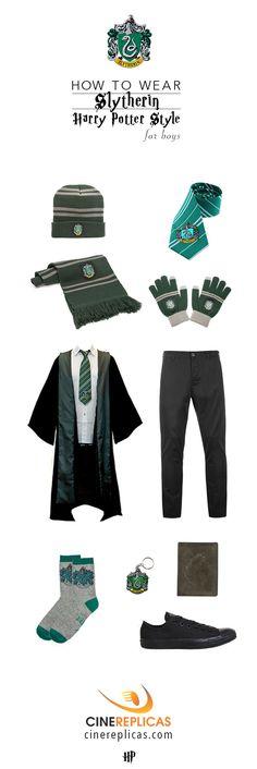 Slytherin Harry Potter Style for Boys #HarryPotter #Slytherin www.cinereplicas.com