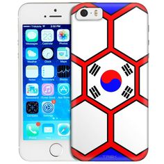 Apple iPhone SE Soccer Ball Korea Flag Trans Case