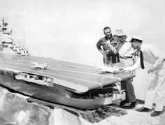John Wayne, director John Ford and Dan Dailey with a model aircraft carrier used in The Wings of Eagles Vivian Vance, Montgomery Clift, Tyrone Power, Marlene Dietrich, Dean Martin, I Love Lucy, Alfred Hitchcock, Movie Theater, I Movie