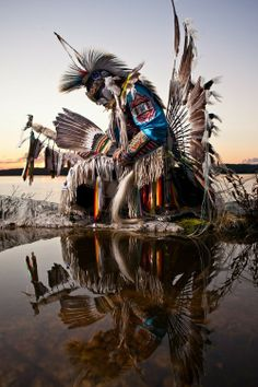 Mi'kmaq Warrior and Dancer ~ Great Slave Lake, Northwest Territories, Canada.