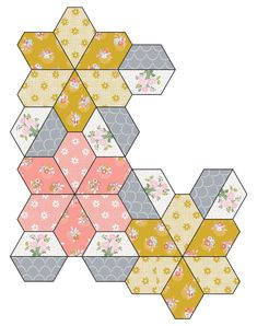 Star Quilts, Mini Quilts, Quilt Blocks, Quilting Templates, Quilting Tools, Patchwork Patterns, Quilt Patterns, Sue Daley English Paper Piecing, Quilting For Beginners