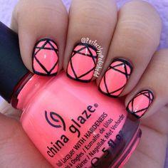"""Cute border nails  used China Glaze """"Flip Flop Fantasy"""" @perfectlyypolishedd"""