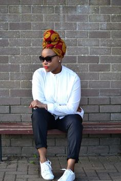 Turbans for natural hair turban style ideas and inspiration make up look black girl black hair head wrap African Wear, African Attire, African Women, African Fashion, African Style, Ankara Fashion, African Dress, Afro Style, Turban Style