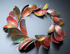 Jane Adam - dyed aluminium necklace. 2013