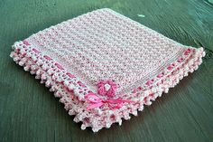 Free Crochet Dainty Textured Baby Blanket Pattern-very pretty and quick to make