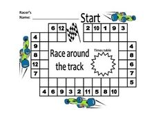 PLEASE RATE MY PRODUCT WHEN YOU DOWNLOAD IT FOR FREE!This is an engaging activity that gives your students a choice of what race they want to participate in! Students can work individually, in pairs or in groups. The teacher gives stopwatches so students can time themselves or an Activboard timer tool can be displayed.