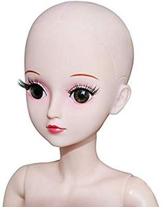 Prettyia Beautiful Female Blue Eyes No Makeup Head for 1//6 BJD OB Doll DIY Making Body Parts