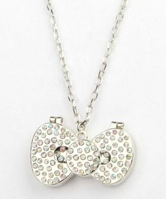 Cute #HelloKitty mirror necklace!  Totally pops against black or navy blue.