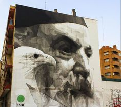 Jaw dropping mural by @inocv in #Zaragoza #Spain #streetart #art #contemporaryart