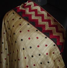 Tussar with thread work saree. For orders and inquiries, please mail us at naari@aninditacreations.com.  Like our page www.facebook.com/naari.aninditacreations