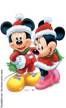 Disney Mickey and Minnie Mouse Christmas Standup