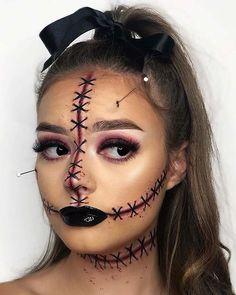 Halloween Orange, Maquillage Halloween Simple, Masque Halloween, Amazing Halloween Makeup, Cute Halloween Makeup, Halloween Eyes, Halloween Makeup Looks, Halloween Diy, Halloween Inspo