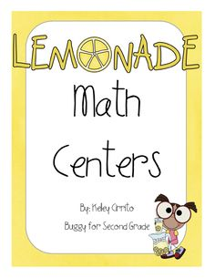 Buggy for Second Grade: Lemonade Math Center FREEBIE!!