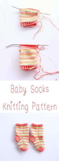 Baby socks knitting pattern free.