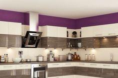 Cool and Clean Kitchen Design Trends 2018 Best Kitchen Design, Latest Kitchen Designs, Ikea Kitchen Design, Modern Kitchen Cabinets, Kitchen Interior, Kitchen Decor, Kitchen Ideas, Beige Kitchen, Purple Kitchen