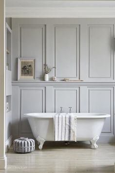 panelled bathroom   london home