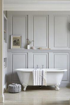 panelled bathroom | london home