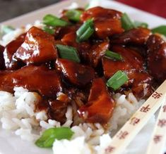 This recipe is a copycat of the Bourbon Chicken sold in Chinese carry-outs. It's named Bourbon Chicken because it was supposedly created by a Chinese cook who worked in a restaurant on Bourbo… Sauce Recipes, Chicken Recipes, Cooking Recipes, Cooking Corn, Cooking Steak, Cooking Salmon, Copycat Recipes, Meat Recipes, Gourmet