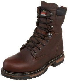 "Rocky Men's Iron Clad 8"" Waterproof Non-Steel Boot,Bridle,8.5 M US - http://authenticboots.com/rocky-mens-iron-clad-8-waterproof-non-steel-bootbridle8-5-m-us/"