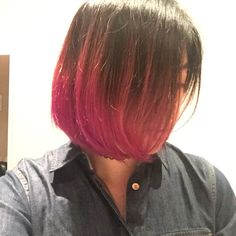 005 hairstyle ideas bob hairstyles with dip magnificent dye ~ Abigailseymour Dip Dye Bob, Dip Dye Hair Short, Dip Dyed, Modern Bob Hairstyles, Haircuts For Long Hair, Teen Hairstyles, Purple Dip Dye, Colored Hair Tips, Bright Hair Colors