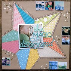 A Project by PaigeTaylorEvans from our Scrapbooking Gallery originally submitted at PM Disney Scrapbook Pages, Scrapbook Sketches, Scrapbook Page Layouts, Baby Scrapbook, Scrapbook Paper Crafts, Scrapbook Cards, Scrapbooking Ideas, Paper Crafting, American Crafts