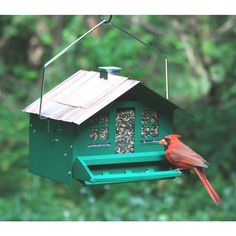 Garden Treasures Metal Squirrel-resistant Platform Bird Feeder 339l
