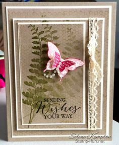 Create with Selene: 2/12 Stampin Up ~ Vintage Butterfly Basics and Butterly Punches, Mojo Monday