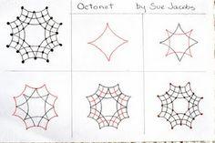 Octonet Zentangle pattern by Sue Jacobs