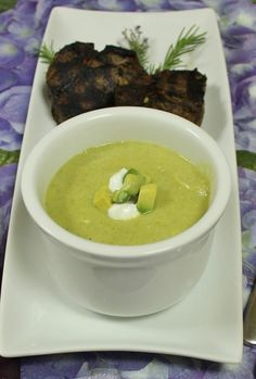 Broccoli, Potato, Pear, Avocado Silky Soup Chopped / The Kitchen Chopper