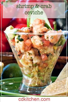 Shrimp ceviche is a great meal to make if the day is hot. It is often made with red snapper but you can also use shrimp to make a Mexican shrimp ceviche recipe. Shrimp Recipes, Fish Recipes, Mexican Food Recipes, Appetizer Recipes, Great Recipes, Favorite Recipes, Appetizers, Mexican Desserts, Shrimp Ceviche