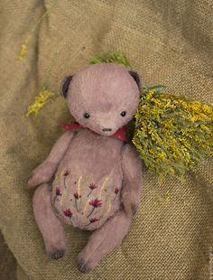 мишка тедди, мишка с вышивкой, teddy bear