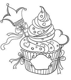 Riscos graciosos (Cute Drawings): Cupcakes, sorvetes e bolos (Cupcakes, ice creams and cakes)