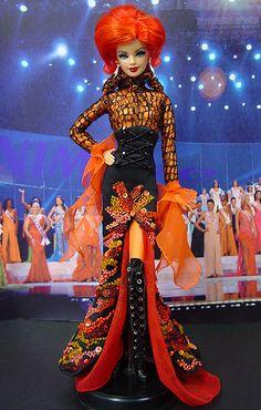 NiniMomo miss beauty dolls | OOAK Barbie NiniMomo's Miss Adygea 2011