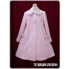Tweed Little Princess Coat via Polyvore featuring outerwear, coats, purple coat and tweed coat