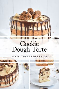 Cookie Dough Torte Here you will find a recipe for a cookie dough cake, sponge cake bases with a mascarpone curd cream and delicious biscuit dough inside! Easy Homemade Desserts, Easy Chocolate Desserts, Chocolate Chip Cake, Chocolate Cake Recipe Easy, Chocolate Chip Recipes, Chocolate Chip Cookie Dough, Healthy Chocolate, Dessert Cake Recipes, Easy Cake Recipes